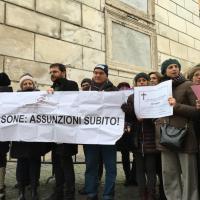 Roma, in Campidoglio la protesta dei vincitori del 'concorsone':
