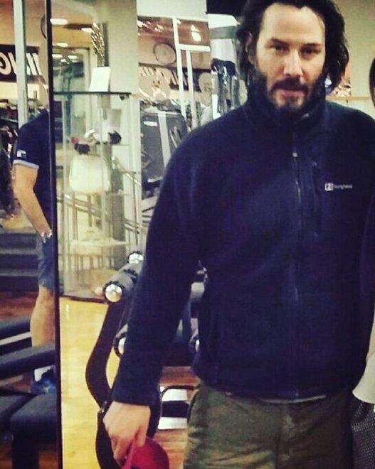 Keanu Reeves gira a Roma, allenamento a sorpresa in una palestra