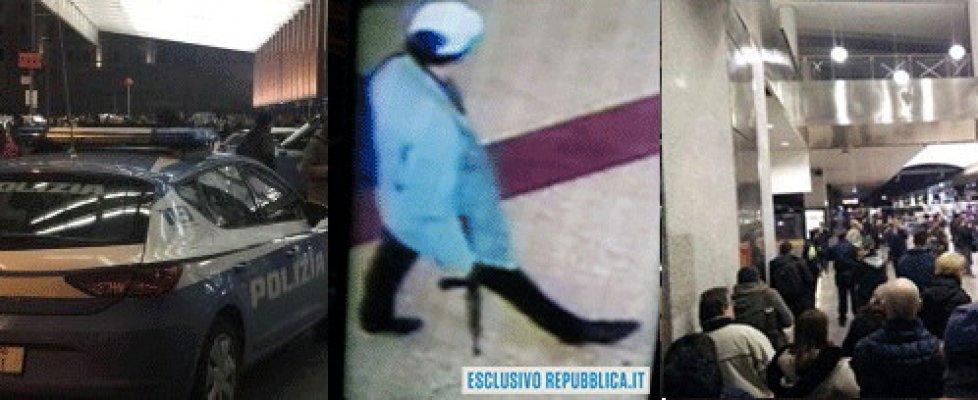 Roma, un'ora di paura alla stazione Termini: un italiano con un fucile giocattolo fa scattare l'allarme. Era un regalo per il figlio