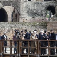 Il presidente iraniano Rouhani in visita al Colosseo