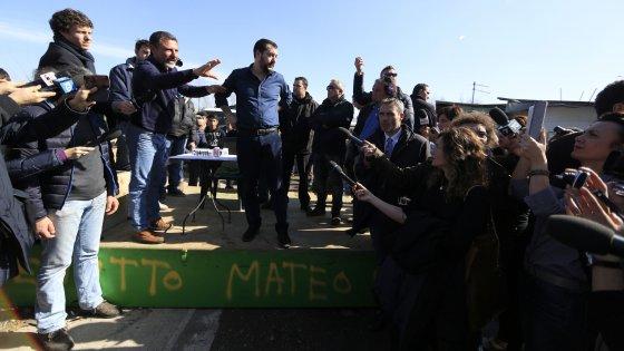 """Comunali Roma, Salvini: """"Chi vuole governare con Lega deve chiudere i campi rom"""". Gabrielli: """"No a farmaci nordici"""""""