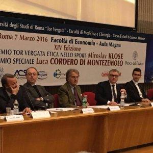 Lazio, a Klose e Montezemolo il 'Premio Etica dello Sport' a Tor Vergata