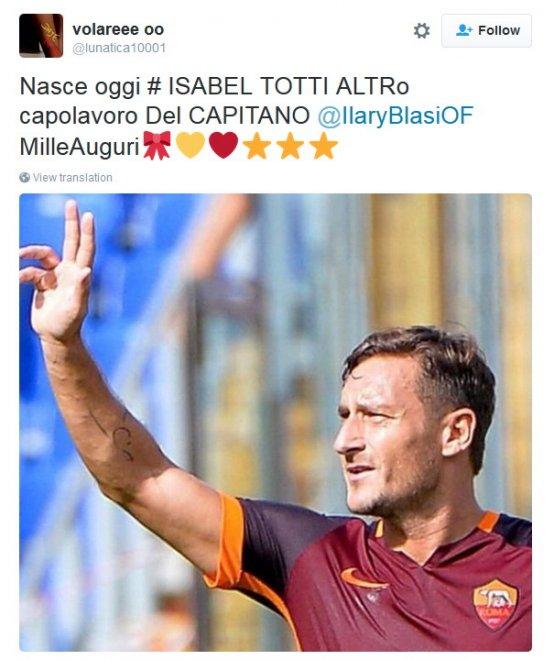 Benvenuta #Isabel, è nata la figlia di Totti-Ilary: il web festeggia con ironia