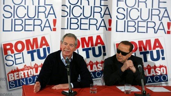 """Comunali Roma, Bertolaso: """"Anticipare data elezioni"""". Berlusconi: """"Io sono come Batman"""""""