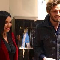 Roma, i calciatori della Lazio nella boutique Cruciani