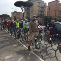 Roma, manifestazione dei ciclisti sull'Aurelia:
