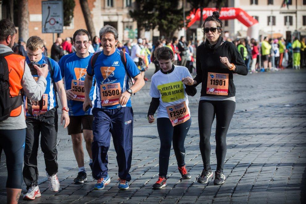 Maratona di Roma, striscioni e magliette per Giulio Regeni