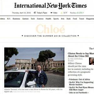 Cinquant'anni nel traffico di Roma. Il Nyt celebra il tassista della Dolce vita