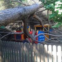 Villaggio Olimpico, albero cade sulle giostre a Roma