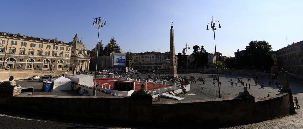 Campi Da Tennis Roma.Roma Il Campo Da Tennis A Piazza Del Popolo Per Gli Internazionali