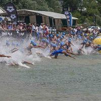 Nuoto, bici e poi via di corsa: il triathlon all'Eur