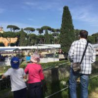Roma, piazza di Siena: campioni mondiali e caroselli