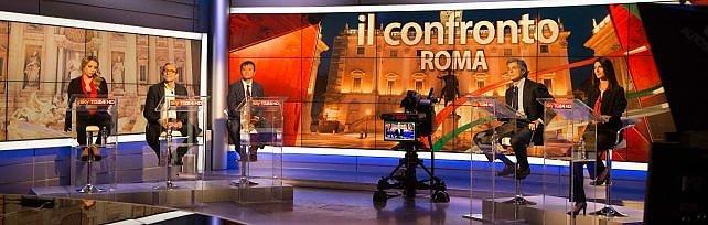 Sky, 90 minuti di dibattito tra i candidati sindaco  Scintille su legalità, buche e sicurezza