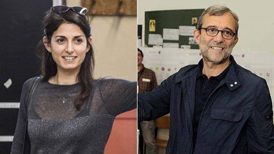 """Elezioni a Roma, Raggi sfonda il muro del 35%. """"E' un momento storico"""". Giachetti va al ballottaggio"""
