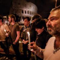 Strage di Orlando, fiaccolata nella Gay Street di Roma
