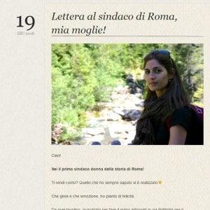 """Comunali a Roma, la lettera del marito alla Raggi: """"Mi manchi da morire. Ti proteggerò da lontano"""""""