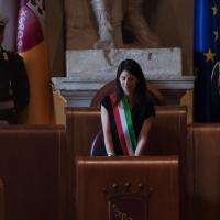 La presentazione della giunta in aula Giulio Cesare a Roma