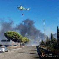 Nuovo incendio sulla Pontina: code fino a sei chilometri all'altezza di Ardea