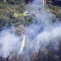 Roma, incendio nel parco del Pineto: fiamme domate in serata. Bruciati 50