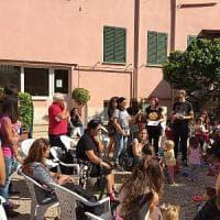 Roma, San Lorenzo, i bimbi di Rebibbia in via degli Apuli per un