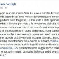 Roma, cronista di Piazzapulita aggredita durante un'inchiesta a Magliana