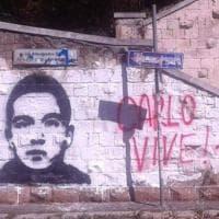 Roma, a Garbatella rimosso il murale per Carlo Giuliani. Gli attivisti protestano: