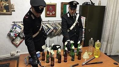 Garbatella, sorpresi a fabbricare molotov