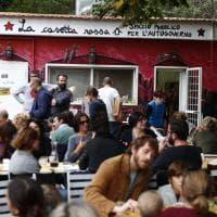 Garbatella, festa anti-sfratto alla Casetta Rossa