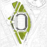 Stadio delle mini-nazionali con parcheggi e palestre il piano per il Flaminio