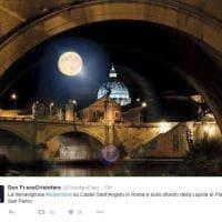 Da San Pietro a Tor Pignattara, la superluna negli scatti dei romani