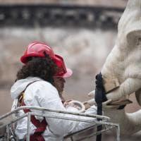 Roma, al via il restauro dell'elefantino danneggiato in piazza della Minerva