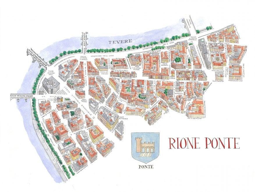 Roma Cartina Centro Storico.Matita China E Acquerello Il Centro Storico Di Roma In Ventidue Mappe La Repubblica