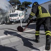 Roma, in fiamme l'auditorium di Pineta Sacchetti