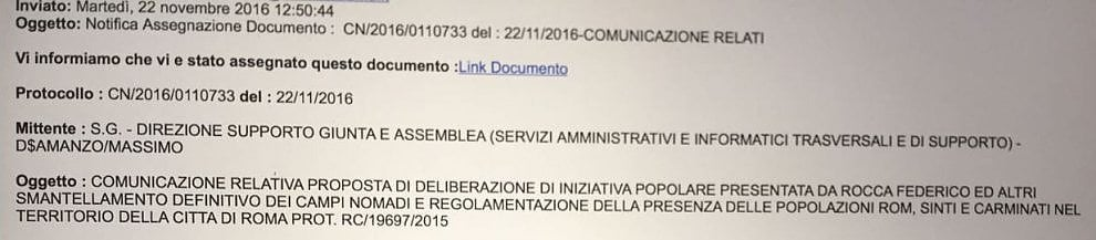 """Roma, il refuso nella mail inviata ai municipi per """"la regolamentazione delle popolazioni rom, sinti e Carminati"""""""