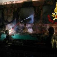 Roma, Villa Spada: incendio alla stazione smistamento treni, distrutte due