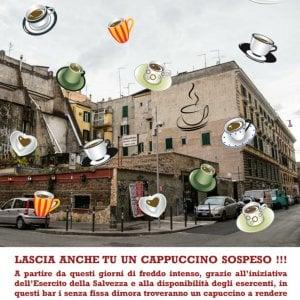 """Roma, a San Lorenzo arriva il """"cappuccino sospeso"""" per i senzatetto"""