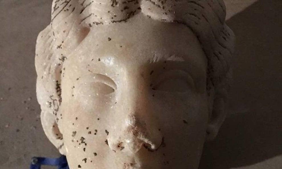 Terracina, scoperta la statua di Diana cacciatrice