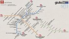 La mappa della metro con i musei di Roma