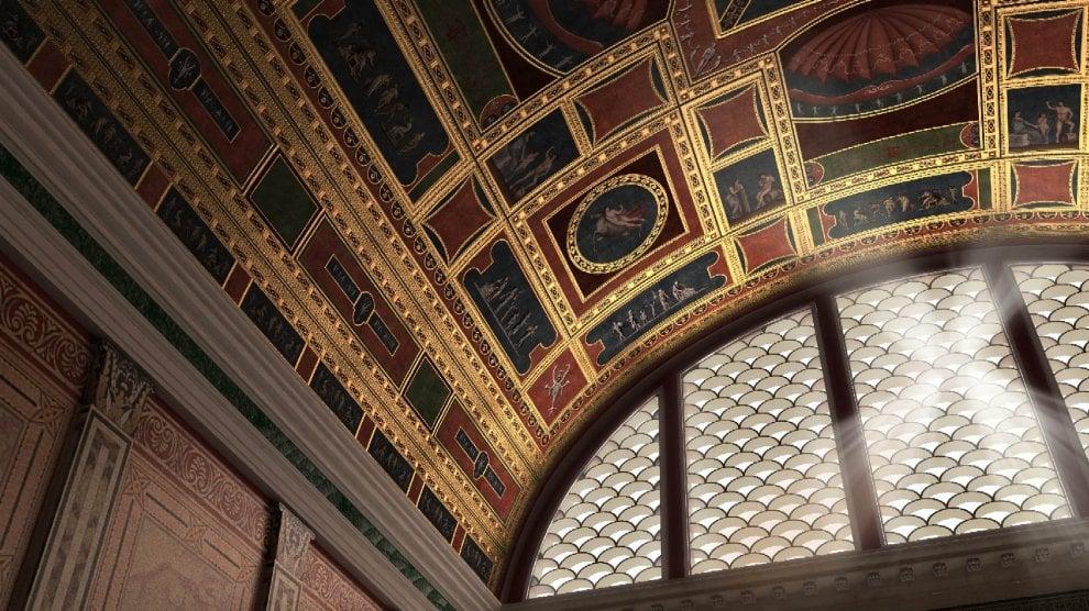 Immagine 3D dalla ricostruzione della volta della Domus Aurea