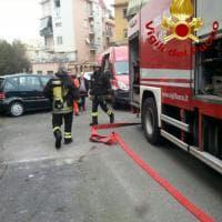 Roma, Pietralata: in fiamme tre piani di uffici