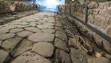 Ristorante-museo  video  sull'antica strada romana