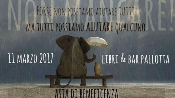 Un'asta di beneficenza per i terremotati del centro Italia a Ponte Milvio