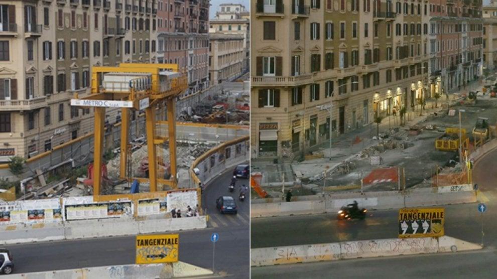 Roma, metro C: chiuso il cantiere, apre la fermata San Giovanni