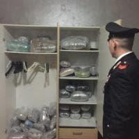 Roma, spacciatori in fuga sui tetti: sequestrati 240 kg di marijuana e una pistola alla Borghesiana