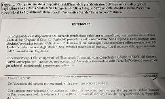 """Roma, Celio Azzurro: """"È arrivato lo sfratto, da oggi le forze dell'ordine possono mettere i sigilli"""""""