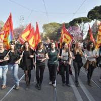 Roma, il corteo degli euroscettici, Euro Stop