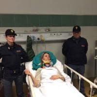 Roma, la poliziotta aggredita: