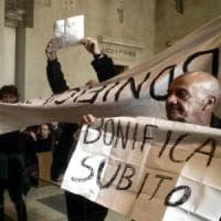 Roma, protesta in Aula:
