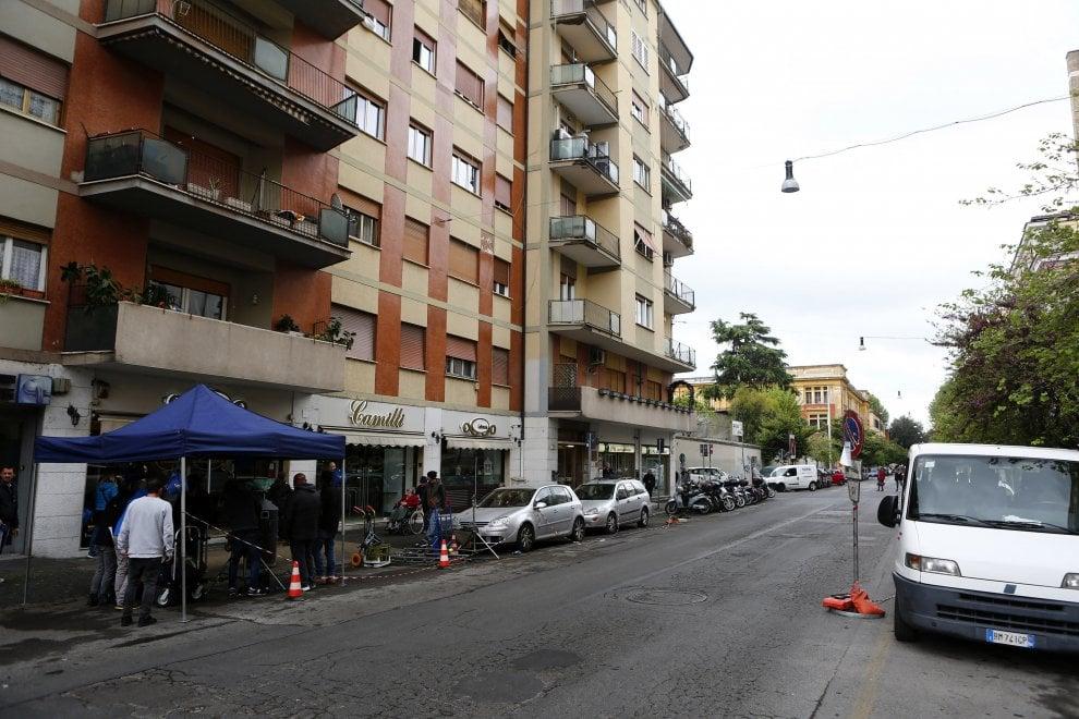 """Roma, a Testaccio il set di """"E' arrivata la felicità 2"""" con Lunetta Savino e Ninetto Davoli"""