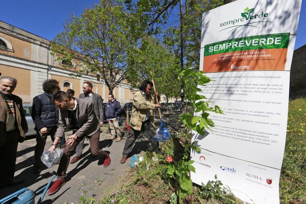 Roma, senza fissa dimora cureranno il verde lungo le mura aureliane a San Lorenzo